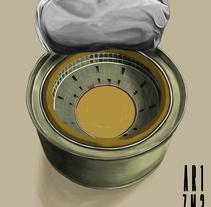 Las Ventas dentro de una lata de atún!!. A Illustration project by Carlos Arizmendi         - 02.04.2016
