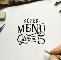 Súper Menú Give Me 5 for KFC. A Design, Art Direction, Graphic Design, T, pograph, and Calligraph project by Jose Gil Quílez         - 11.04.2016