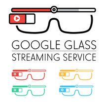 Logo Google Glass Streaming Service. Um projeto de Br, ing e Identidade e Design gráfico de Alessio Conte         - 14.04.2016