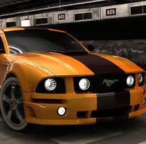 Mustang 3D. Um projeto de 3D de Alessio Conte         - 14.04.2016