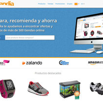 Colandia - Web de compra social. A UI / UX, IT, and Web Development project by Carlos Pérez González         - 05.12.2014