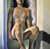 Bañera número 4. Pintura en acrílico sobre lienzo.. Un proyecto de Bellas Artes y Pintura de Marcos Vinicius Fernandes Ferreira         - 21.04.2016