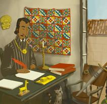 """Libro de historia ilustrado. """"El soldado que se hizo escritor"""". Inca Garcilaso de la Vega.. Um projeto de Ilustração, Design de personagens e Artes plásticas de Eva Bajo         - 22.04.2016"""