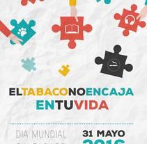 Cartel y lema Certamen anti-tabaco. Un proyecto de Diseño gráfico de Rocío González         - 29.05.2016