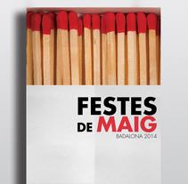 Cartel Festes de Mag Badalona 2014. Un proyecto de Diseño gráfico de Elisa Bascón - 09-05-2014