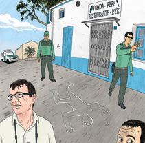 Crimen en el paraiso. Un proyecto de Bellas Artes, Comic e Ilustración de Juan Moreno - Jueves, 28 de julio de 2016 00:00:00 +0200