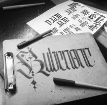 Caligrafía.. A Calligraph project by Rubén Ganado González         - 04.09.2016