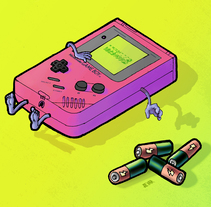 LastGameBoy. A Illustration project by Jota Erre - 14-08-2016