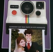 Tarjeta de Casamiento: diseño e ilustraciones. A Illustration, and Graphic Design project by Agustina Perciante         - 31.03.2016