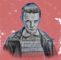 Mi Proyecto del curso: POSTER Stranger Things. Un proyecto de Ilustración, Dirección de arte, Bellas Artes y Pintura de Uriel Márquez Romo - 23-08-2016