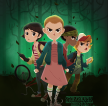 Stranger Things. A Illustration, and Character Design project by Núria  Aparicio Marcos - Sep 02 2016 12:00 AM