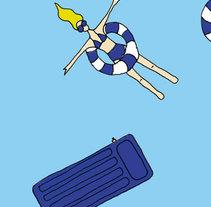 Summer - pattern. Un proyecto de Ilustración y Diseño gráfico de Anabel  Valera  - 02-09-2016