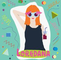 Self-portrait. Um projeto de Design, Ilustração e Design gráfico de loredana ardissone         - 05.09.2016
