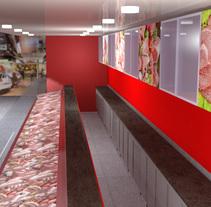 Trabajo 3D espacio comercial de alimentación. . A 3D&Infographics project by Alberto Figueroa Notó         - 07.09.2016