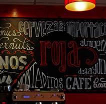 LETTERING PARA LA TABERNA ROJA. A Design, Fine Art, Graphic Design, T, pograph, and Calligraph project by Bea Tirado Calvo         - 11.09.2016