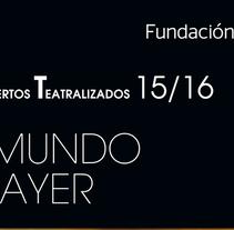 Conciertos FBBVA. Un proyecto de Diseño gráfico de Ana Cristina Martín  Alcrudo - Domingo, 13 de septiembre de 2015 00:00:00 +0200