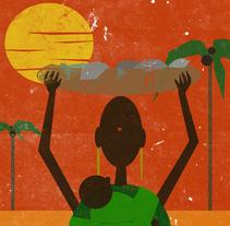 África. A Illustration project by Natalia Seco Domínguez         - 16.09.2016