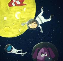 En Mario a l'espai. Un proyecto de Ilustración de Clara  Fort         - 18.09.2015