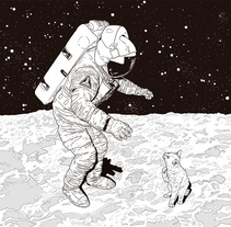 Cat on the moon. Un proyecto de Ilustración y Bellas Artes de Isabel Pazos Pose         - 25.09.2016