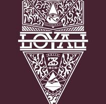 LOYAL Shirt. Um projeto de Design, Design de vestuário e Serigrafia de Max Gener Espasa - 25-09-2016
