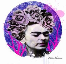 Frida.. A Design, Illustration, Photograph, Fine Art, Graphic Design, and Painting project by patriciavillaronsanchez - 19-09-2016