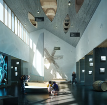 Museo Nautico en Badalona. A Design, Photograph, 3D, Architecture, Interior Architecture, Post-Production&Infographics project by Phrame  - Jun 01 2016 12:00 AM