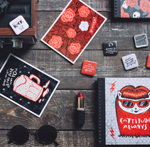 Diseño de papelería y regalos indie. A Product Design project by Pupa Pupapop - 12-10-2016