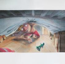 Bajo la cama.... A Illustration, Character Design, and Fine Art project by Inma MC         - 30.10.2016