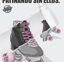 2ª Propuesta para Rolling Dance & Burger: Promoción de la marca. A Illustration, Art Direction, and Graphic Design project by Gab  Gallego - 01-11-2016