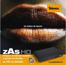 Televés: Porque a tu televisor también le gustan los detalles.. Un proyecto de Publicidad, Fotografía, Gestión del diseño, Cop y writing de Fran  Añón - 13-11-2016