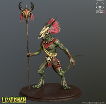 Lizardman. A 3D, Animation, Character Design, Game Design, To, and Design project by Hector Lucas         - 30.01.2016