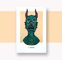 Monstruos Diabólicos. Un proyecto de Diseño, Ilustración, Diseño gráfico y Serigrafía de Elrayo rodríguez         - 16.11.2016