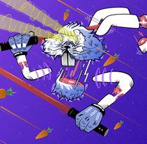 Space rabbit. Um projeto de Ilustração de Álvaro López López         - 23.11.2016