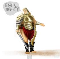 Gladiatrix. A Character Design project by Javier García García de Iturrospe - 04-12-2016