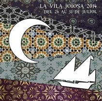 Carteles para fiestas patronales de Villajoyosa. Um projeto de Design e Ilustração de Raquel Rubio         - 04.12.2016
