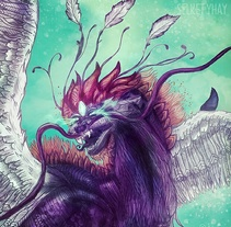 Dragón. A Illustration, and Fine Art project by Selket Yhay         - 05.12.2016