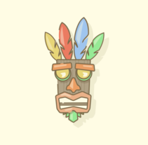 Motion Mask Crash Bandicoot . A Design, and Animation project by Noelia Muñoz         - 22.12.2016