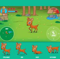Videogame UI and Graphics - Deer. Um projeto de UI / UX, Design de jogos e Design gráfico de Alessio Conte         - 05.01.2017