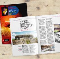 Revista Penya Blaugrana de Les Corts 2016. A Design, Advertising, Editorial Design, and Graphic Design project by Disparo Estudio         - 08.01.2017
