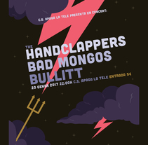 The Handclappers + Bad Mongos + Bullitt. A Illustration, and Graphic Design project by Xavier Calvet Sabala - 08-01-2017