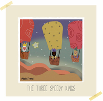 The three speedy kings. A Illustration project by Valentina Urdaneta Urdaneta         - 05.01.2017