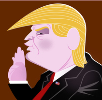 Trump. A Illustration project by José Ramón  Gómez Villate - 22-01-2017