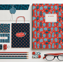 Fungiland- Stationery Pattern Collection. Un proyecto de Ilustración de Pupa Pupapop - 27-01-2017