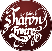 Ex Libris para Sharon Freire. A Calligraph project by pujadas - 28-01-2017