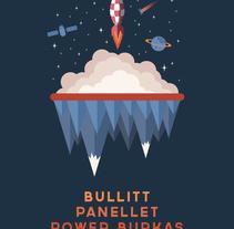 Bullitt + Panellet + Power Burkas. Um projeto de Ilustração e Design gráfico de Xavier Calvet Sabala         - 29.01.2017