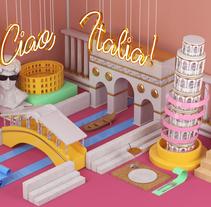 Ciao, Italia!. Um projeto de Ilustração, 3D e Direção de arte de Juan David Pérez - 31-01-2017