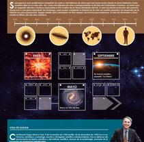 Infografía A2 Calendario Cósmico de Sagan. Um projeto de Design gráfico de Jorge de la Fuente Fernández         - 10.03.2017