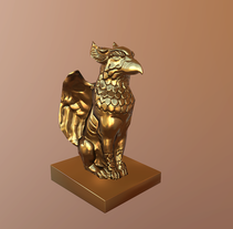 Statue of a Gryphon. A 3D, and Architecture project by Miguel Ángel González Martínez         - 13.03.2017