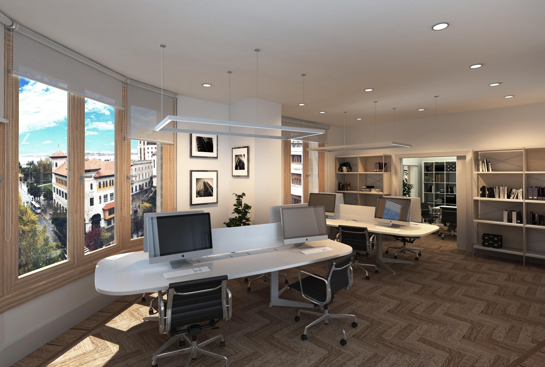 Infograf as 3d para proyecto de interiorismo en oficinas for Programas 3d interiorismo