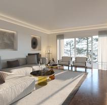 Opciones diseño interior salón en Madrid. Un proyecto de 3D y Diseño de interiores de DIKA estudio         - 15.03.2017